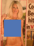 And The Sun's Page 3 girl. Censored by me, obviously.
